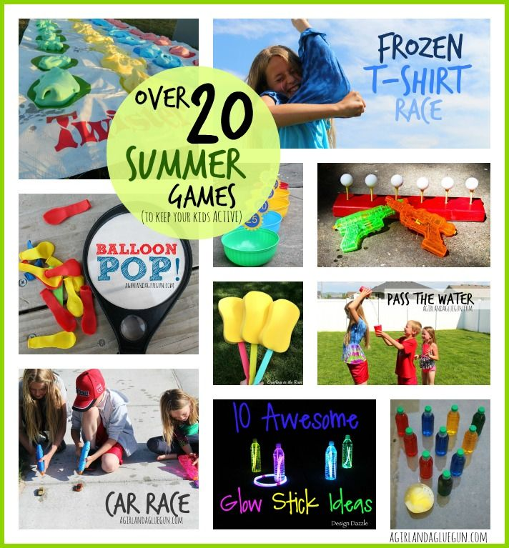 Outdoor games to play in SUMMER--keep those kids active! - A girl and a glue gun #ChooseDreams