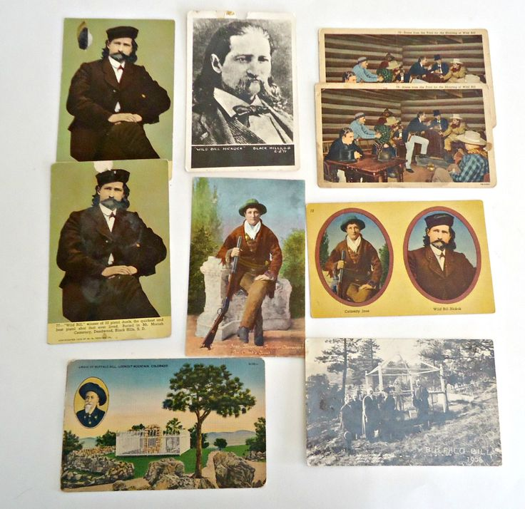9 Wild Bill Hickok & Calamity Jane Postcards Instant Collection Vintage by TreasureCoveAlly on Etsy