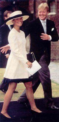 Crown Princess Victoria Szwecji i króla Willema-Alexandra z Holandii na ślubie księcia Pavlos Grecji i Marie Chantal Miller.