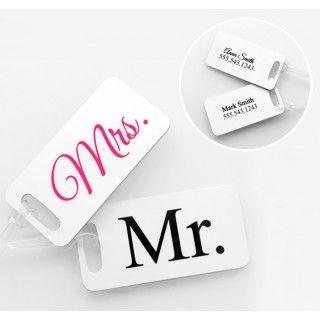 Mr. & Mrs. Luggage Tags #wedding #honeymoon #daisydays