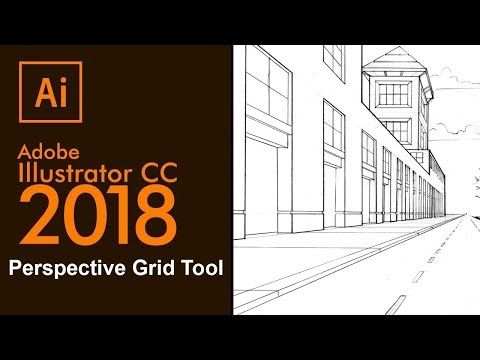 Adobe Illustrator-2018 Perspective Grid Tool - How to use the Perspective Grid - YouTube
