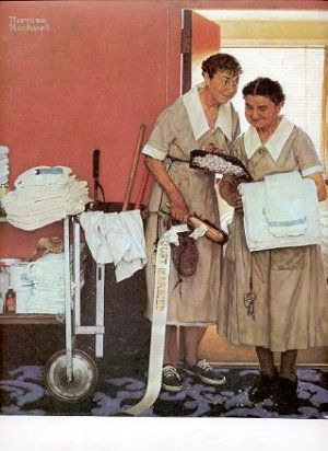 Norman Rockwell: Maids the morning after the wedding. I feel so bad for the maids after my wedding!!!