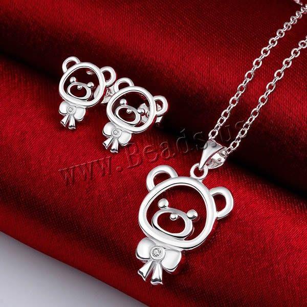 Favourer® ensemble de bijoux, boucle d'oreille & collier, laiton, avec 2lnch chaînes de rallonge
