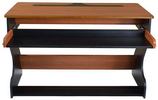 """Zaor Miza Jr black cherry - 419€ Extensible avec module ZAOR Gripracks (2 max) Tiroir rétractable et hauteur ajustable (52 - 172 mm) Seconde hauteur ajustable (19 -147 mm) thomann pour les moniteurs (2x écrans de 24"""" max) Dimensions (LxPxH): 1250 x 700 x 782 mm Surface de travail (LxP): 1250 x 700 mm Tiroir (LxHxP): 1129 x variable x 318 mm Panneau en bois mélaminé Bois dur massif Couleur: cerisier / noir Poids: 44 kg"""