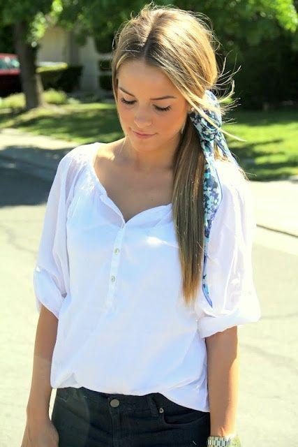 Les 237 meilleures images propos de nouer foulard dans - Differentes facons de porter un foulard ...