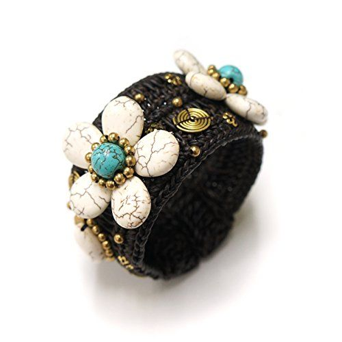White Howlite Flower Bangle for Girls & Women, Thai Bangl... https://www.amazon.com/dp/B06WGR9LYG/ref=cm_sw_r_pi_dp_x_rHVPybY5WPCPH
