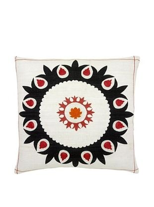 74% OFF Mela Artisans Hand-woven Sabah Silk Pillow, Black