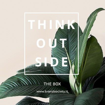 Think outside the box. Nine Dots. www.brandsociety.it  #quote #quoteoftheday #quotesgram #quotesforyou #minimal #minimalism #minimaldesign #graphicdesign #graphicwork #design #lookandfeel #designproject #palm