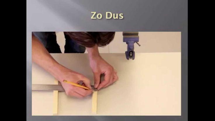 Instructie: Het maken van een half-hout-verbinding.