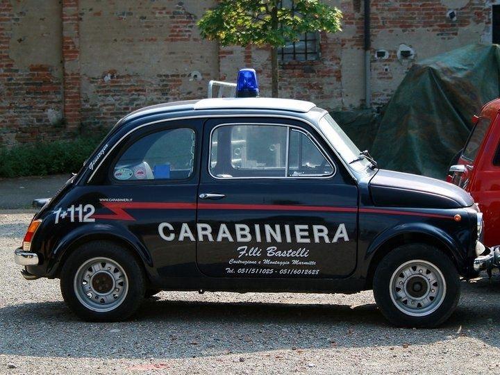 Fiat 500 Italian cop car.