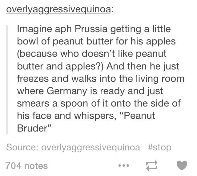 Prussia is probably already beaten up