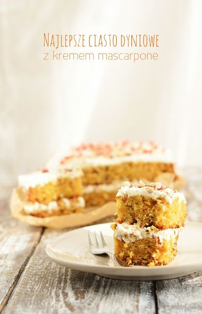 Ciasto dyniowe z orzechami, granatem i kremem mascarpone | Cookuj - udane gotowanie