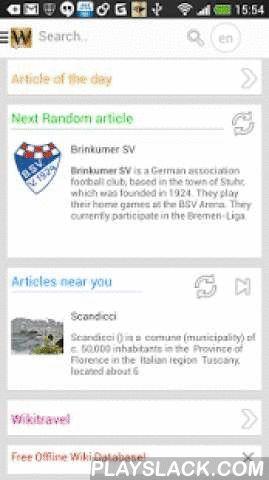 Wiki Encyclopedia Gold  Android App - playslack.com ,  Wiki Encyclopedie: snelle toegang tot Wikipedia ™op je Android mobiele telefoon!Wikipedia™ in het nederlands✓ Wiki Encyclopedie geeft je toegang tot de online Wikipedia encyclopedie, in een aangepast beeldformaat speciaal voor je Android mobiele telefoon.✓ Bewaar artikelen die je later offline kan lezen! (Pro versie)✓ De applicatie onthoudt je Wikipedia voorkeuren voor taal en tekstgrootte.✓ De App laat je toe te kiezen tussen…