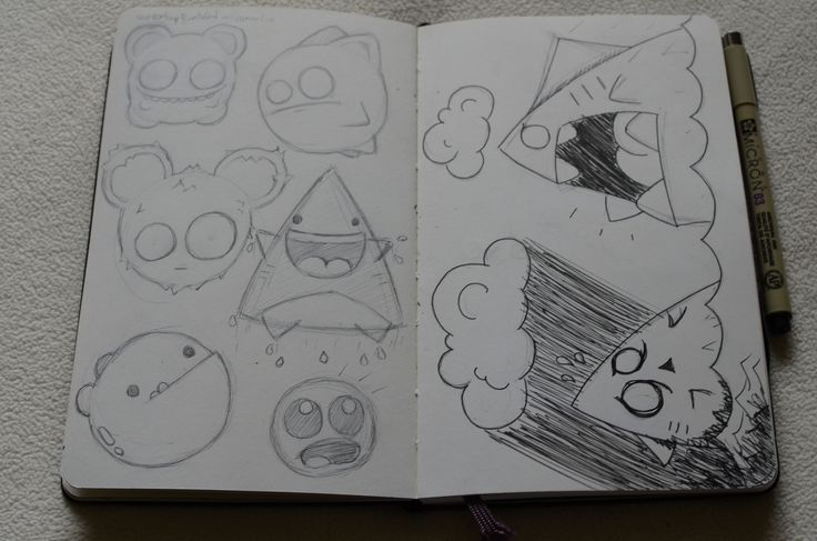 character idea doodles sketches moleskine
