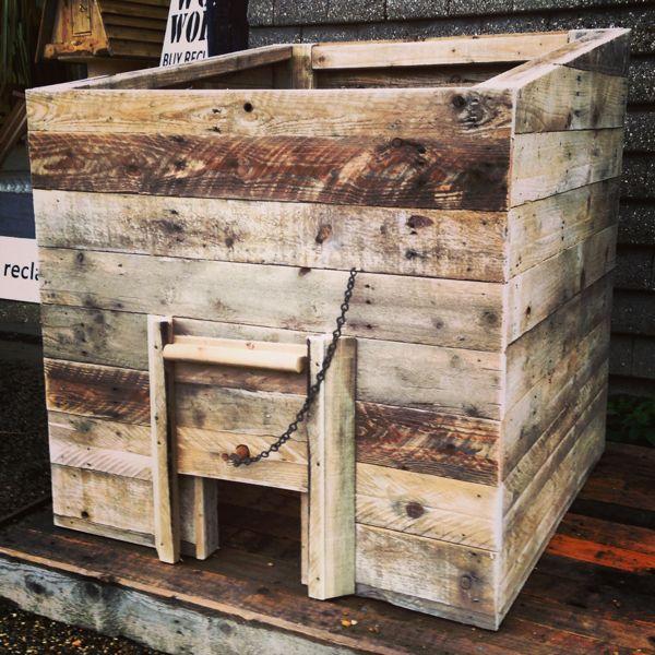 Reclaimed Wood Coal Bunker Garden Storage Ideas