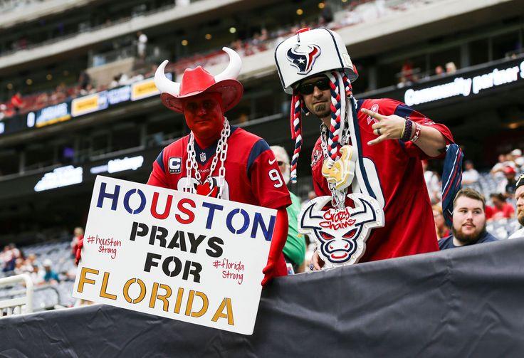 Texans honor first responders before opener vs. Jaguars who have hurricane worries too