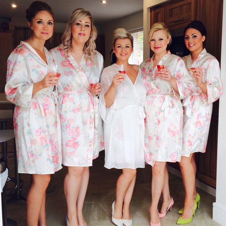 Wedding morning, matching dressing gowns