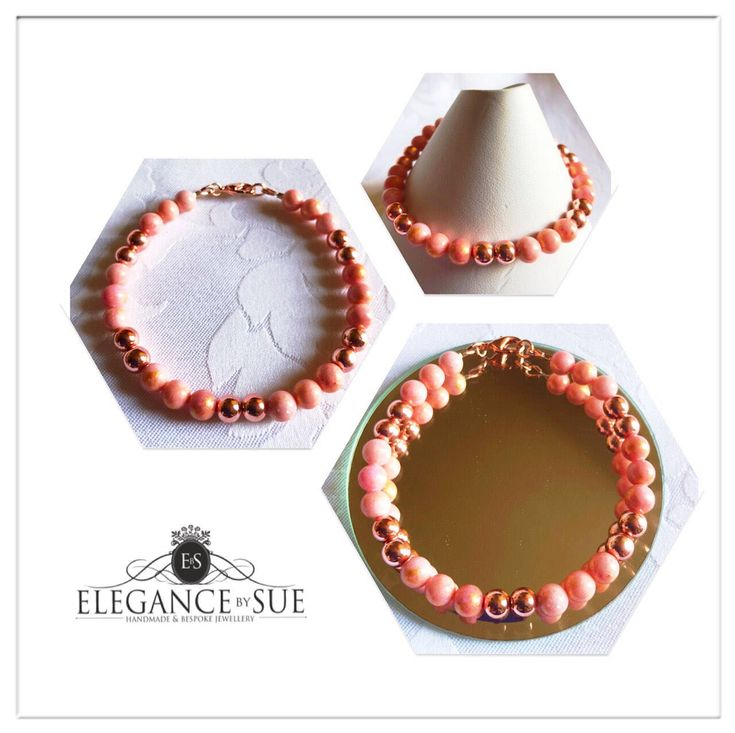 A personal favourite from my Etsy shop https://www.etsy.com/uk/listing/596121253/salmon-pink-jade-and-rose-gold-bead