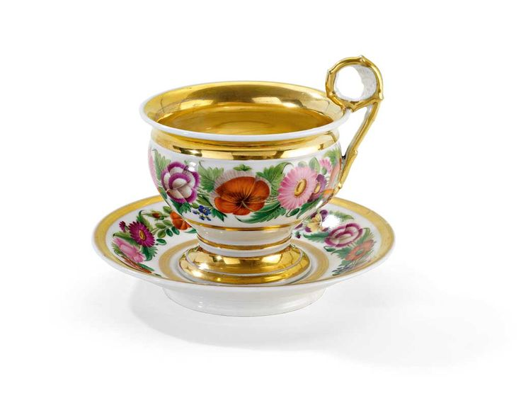 Bohemia Porcelain — Biedermeier cup and saucer , 1st H. 19 Century (1024x773)