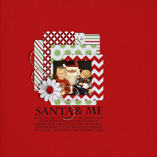 Santa and Me Created with {http://scraporchard.com/market/Secret-Santa-Digital-Scrapbook.html} by Down This Road Designs No Template
