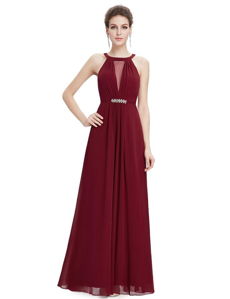 Dámské šaty   Ever Pretty plesové a společenské šaty bordó   šaty skladem
