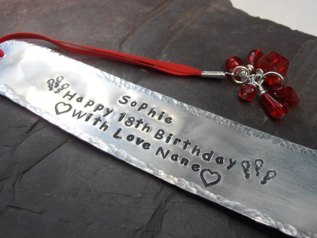 18th Birthday Metal Bookmark Gift Special Occasion £8.50