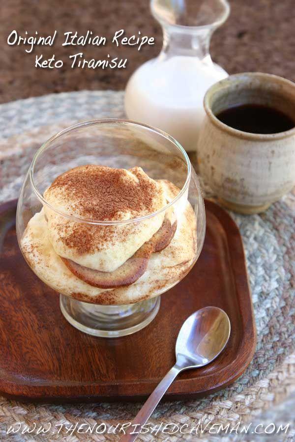 Keto and Low Carb - Tiramisu Original Italian Recipe Gluten and grain free!