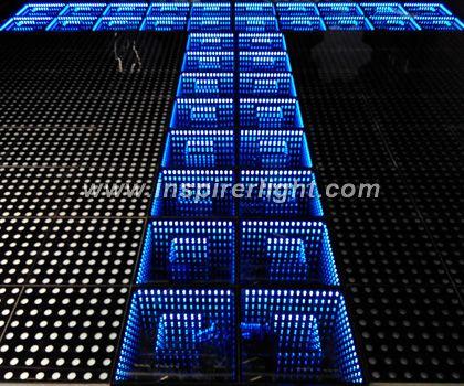 Infinity mirror LED portable dance floor - Inspirer Light