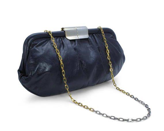 Gathered Vintage 1970s 1980s Oversized Clutch Handbag Purse