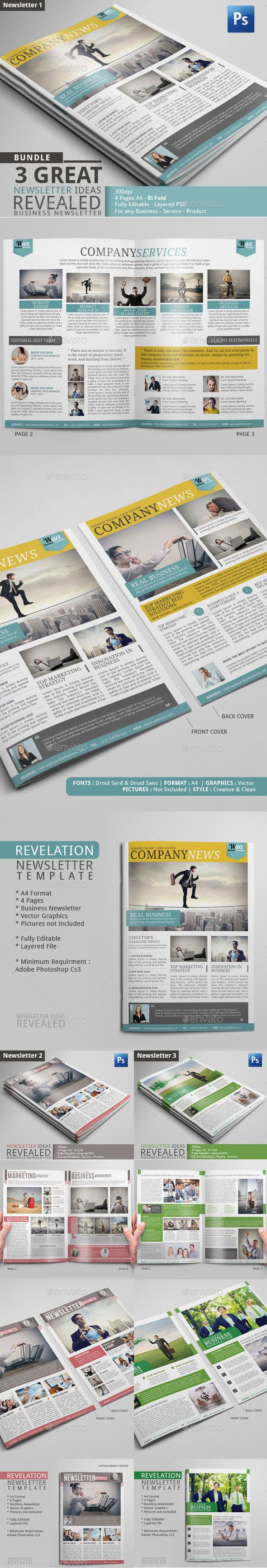 Best Newsletter Design Images On   Newsletter