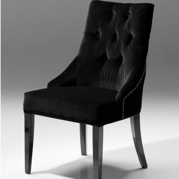 Thumbs Veuve Dining Chair Black Velvet Set Of 2 Gothic