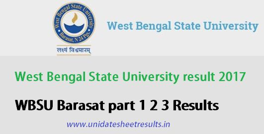 West Bengal State university Result