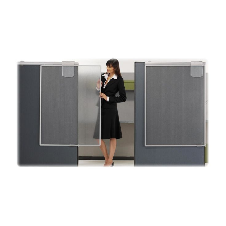 "Quartet Lightweight Workstation 2 Panel Room Divider, 52"" H x 15"" W"