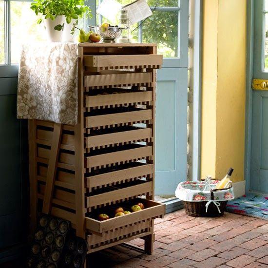 #crate veggies and fruit storage system via housetohome