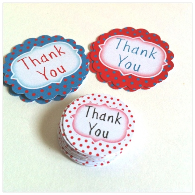 These retro looking polka dots tags are great for a retro theme celebration! Custom message and colors. http://etsy.me/MWCWNi
