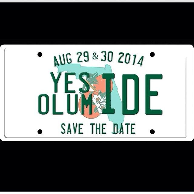 """@aisleperfect's photo: """"You all know how much I love a well branded wedding. Lo-Ove! Bride @Yesideo's wedding brand featuring Florida license plate Save the dates!!  Nigerian wedding"""