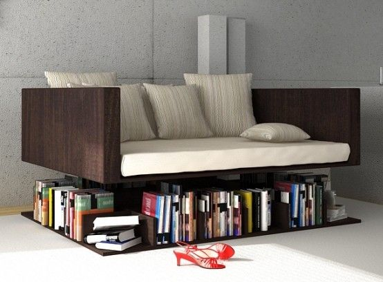 Ransa Sofa Floats Over Your Library Of Books #Tip #TipOrSkip #TopTips #home