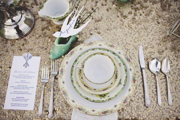 Original idea para mesa de boda, con zapatito incluido