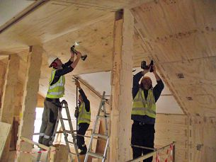 WikiHouseUK // 2015 // Midlands // First Wiki Farmhouse | The world's first Wikihouse home | Ceiling panels