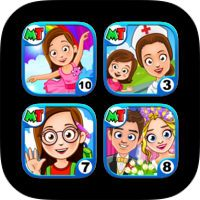 My Town Super Doll House Bundle. Play Makeup & Dress Up with dolls by My Town Games LTD