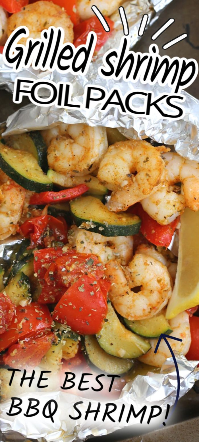 Jun 23, 2020 – These easy GRILLED SHRIMP FOIL PACKS are loaded with shrimp, zucchini, peppers, tomatoes and tasty spices…
