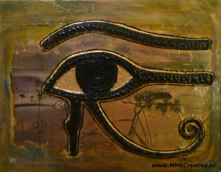Oog van Ra //  Eye of Ra Collage, mixed media