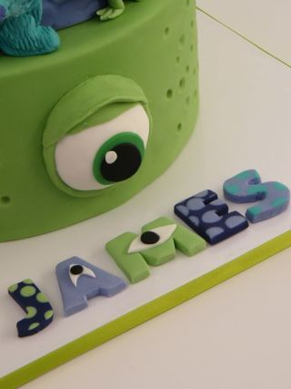 Monster Inc Cake (made with permission from original designer!)