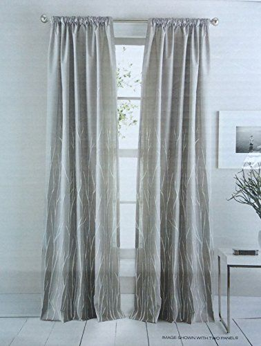 Dkny Whitestone Branches Road Pocket Curtains 100 Cotton
