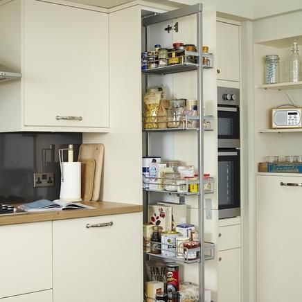 Standard full height pull out larder kitchen storage for Full height kitchen units
