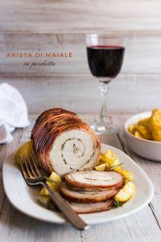 Arista di maiale in porchetta con patate
