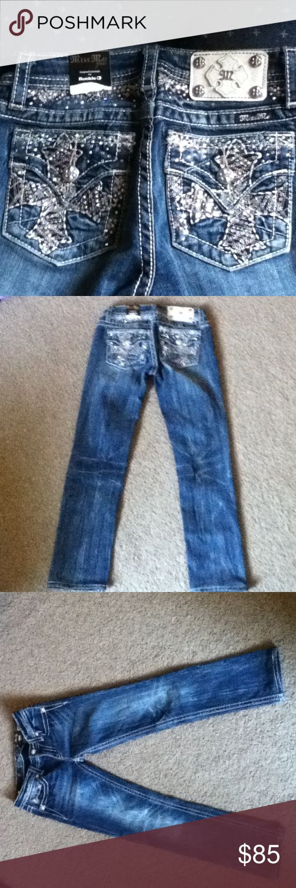 New Little girls Miss me jeans New super cute little girls size 14 skinny jeans with tags attached Miss Me Jeans