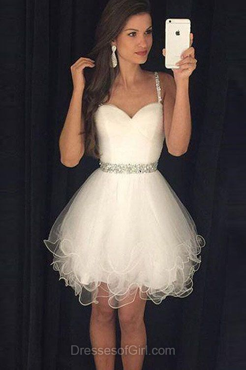 Best 25  Short white prom dresses ideas on Pinterest | Short white ...