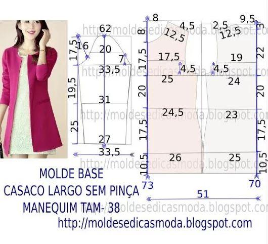 MOLDE DE CASACO