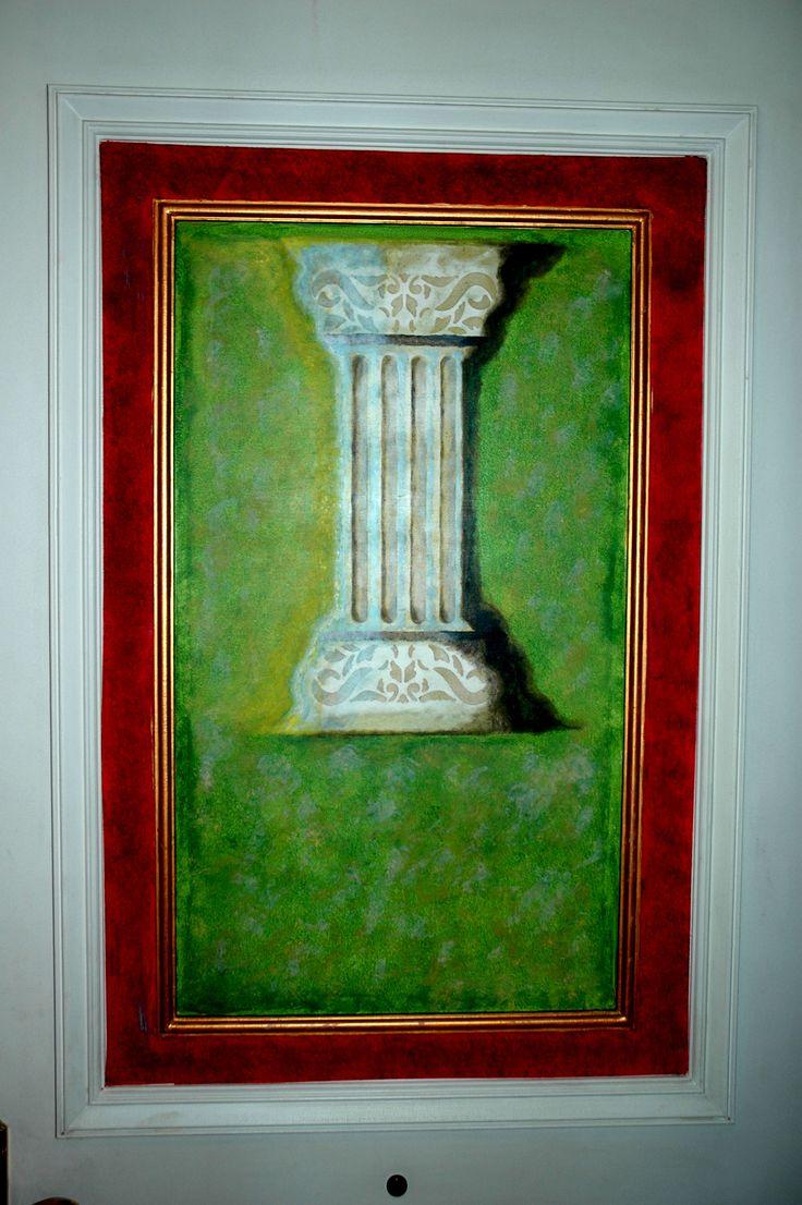 Pintura realizada en puerta. Consultas 98880767. Petra